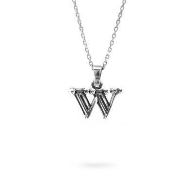 collana lettera W argento ellius gioielli