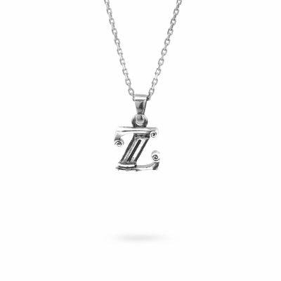 collana lettera Z argento ellius gioielli