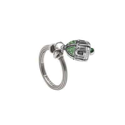Anello Portafortuna Capri Pietre Verde argento gioielli Ellius