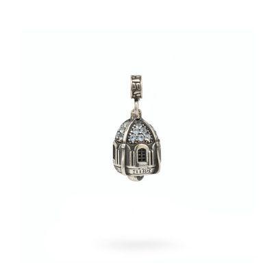Charm Portafortuna Capri Pietre Azzurra maglina gioielli argento Ellius
