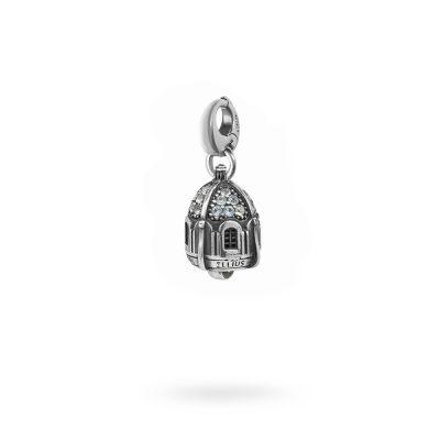 Charm Portafortuna Capri Pietre Azzurra moschettone gioielli argento Ellius