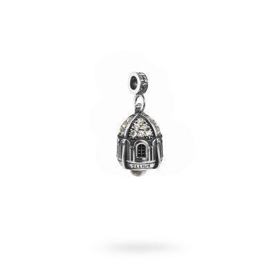 Charm Portafortuna Capri Pietre Bianche maglina gioielli argento Ellius