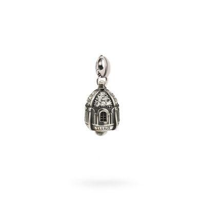 Charm Portafortuna Capri Pietre Bianche moschettone gioielli argento Ellius