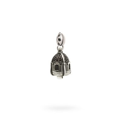Charm Portafortuna Capri Pietre Fume moschettone gioielli argento Ellius