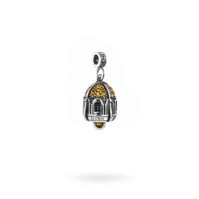 Charm Portafortuna Capri Pietre Gialle maglina gioielli argento Ellius