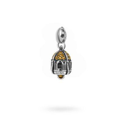 Charm Portafortuna Capri Pietre Gialle moschettone gioielli argento Ellius
