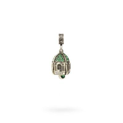 Charm Portafortuna Capri Pietre Verde maglina gioielli argento Ellius