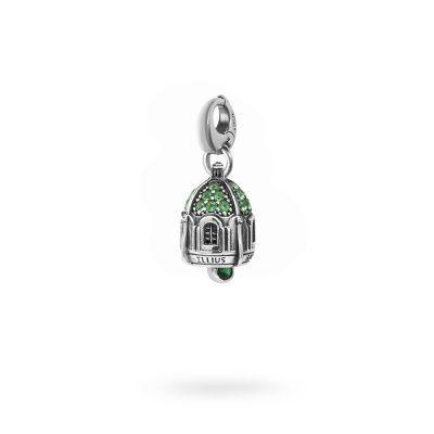 Charm Portafortuna Capri Pietre Verde moschettone gioielli argento Ellius