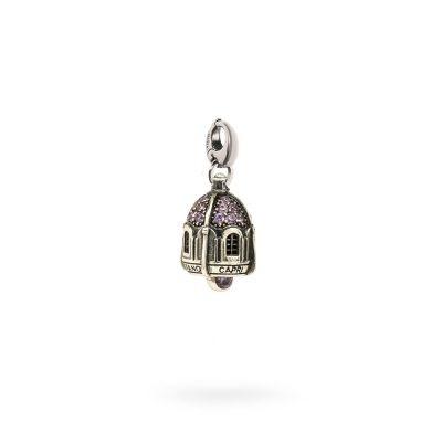 Charm Portafortuna Capri Pietre Viola moschettone gioielli argento Ellius