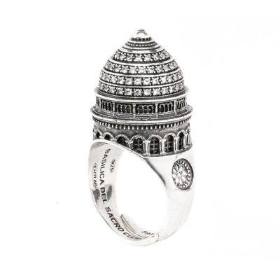 Anello Cupola Basilica Sacro Cuore Parigi gioielli argento Ellius