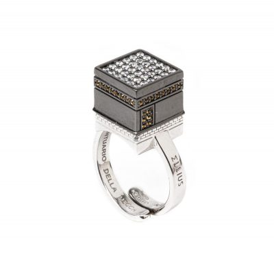 Anello Cupola KABA Mecca gioielli argento Ellius