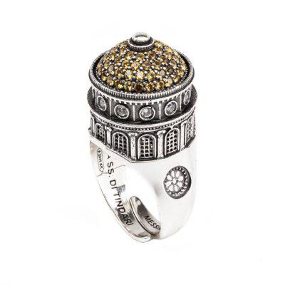 Anello Cupola Santuario Tindari Messina gioielli argento Ellius