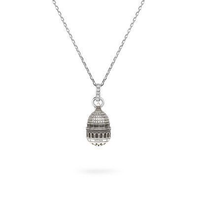 Collana Cupola Minimal Sacro Cuore Parigi gioielli argento Ellius