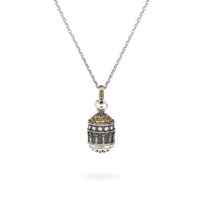 Collana Cupola Santuario Tindari Messina gioielli argento Ellius