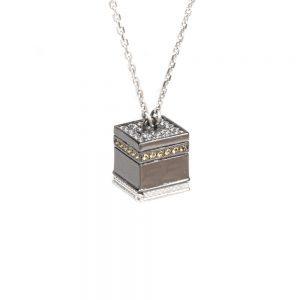 Collana Cupole minimal KABA Mecca no porta gioielli argento Ellius