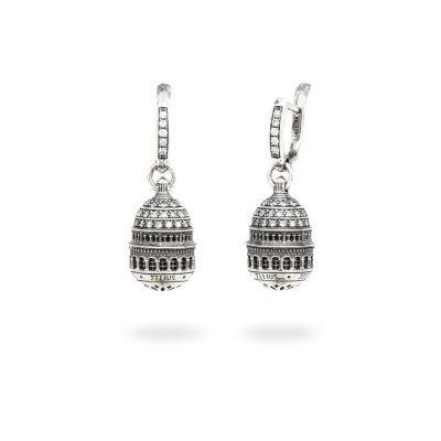 Orecchini Cupola Basilica Sacro Cuore Parigi gioielli argento Ellius