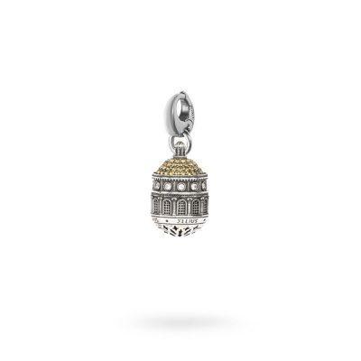 charm cupola santuario tindari Messina gioielli argento Ellius moschettone