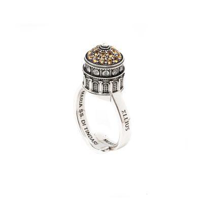 Anello Cupola Minimal Santuario Tindari Messina gioielli argento Ellius