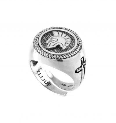 Anello Gladiatore tondo gioielli argento Ellius