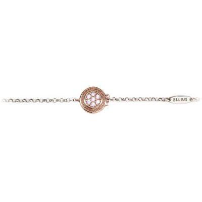 Bracciale bambina Natività rose pietre rosa gioielli argento Ellius fronte