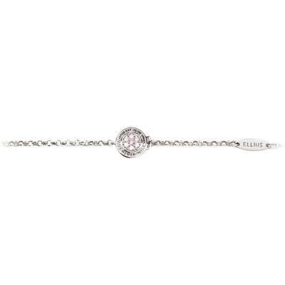 Bracciale neonata Natività rodio pietre rosa gioielli argento Ellius fronte