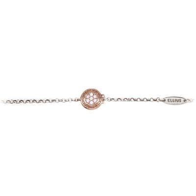 Bracciale neonata Natività rose pietre rosa gioielli argento fronte