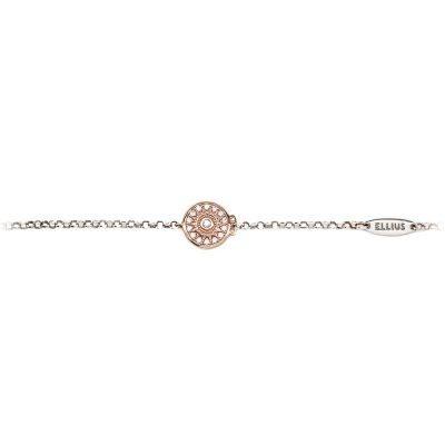Bracciale neonata Natività rose pietre rosa gioielli argento retro