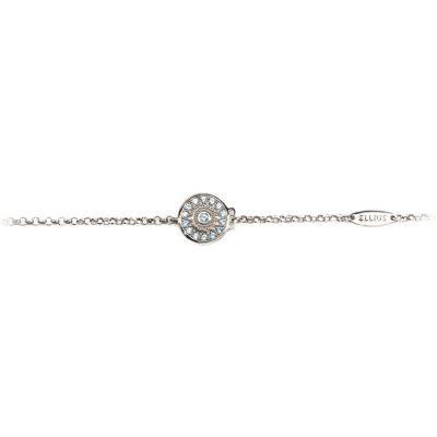 Bracciale neonato Natività rodio pietre celesti gioielli argento Ellius retro