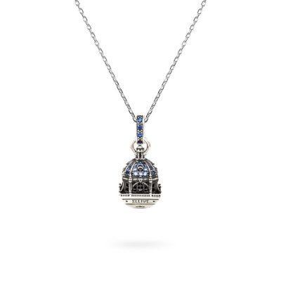 Collana Cupola Minimal Cattedrale Almudena Madrid gioielli argento Ellius