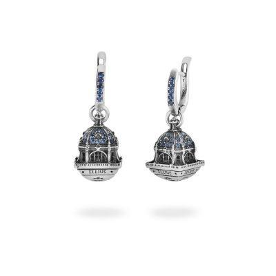 Orecchini Cupola Cattedrale Almudena Madrid gioielli argento Ellius