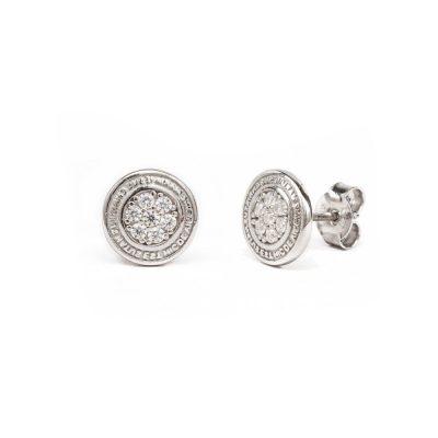 Orecchino Natività Bambino pietre bianche gioielli argento Ellius
