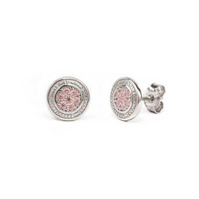 Orecchino Natività Bambino pietre rosa gioielli argento Ellius