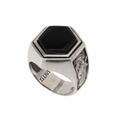 anello argento cavallo uomo cavaliere ellis gioielli