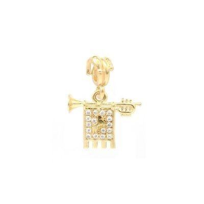 charm chiarina giostra saracino argento dorato ellius