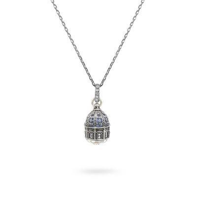 Collana Cupola minimal SantAntonio Corigliano Cosenza gioielli argento Ellius