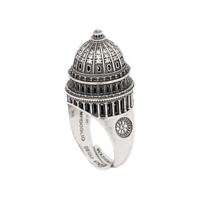 Anello Cupola Campidoglio di Washington gioielli argento Ellius