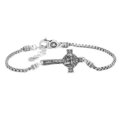 Bracciale Natività Croce Volto Uomo gioielli argento Ellius