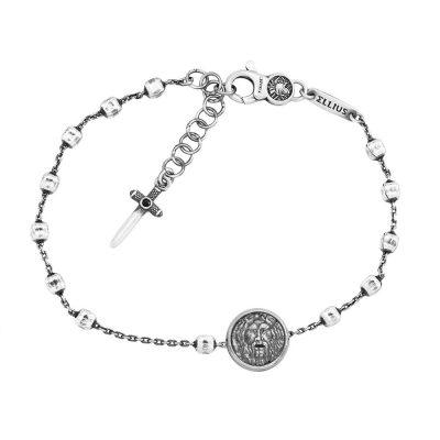 Bracciale Rosario Bocca della Verità Uomo gioielli argento Ellius