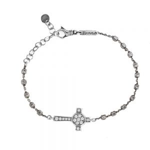 Women's Nativity Rosary Cross Bracelet