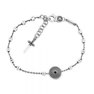 Men's Shield Rosary Bracelet