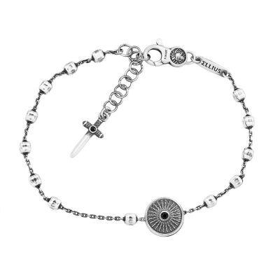 Bracciale Rosario Scudo Uomo gioielli argento Ellius