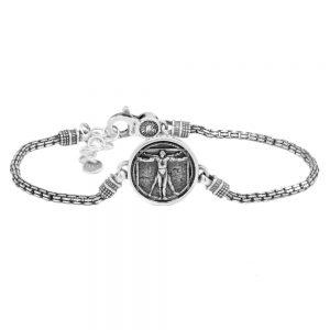 Men's Vitruvian Man bracelet