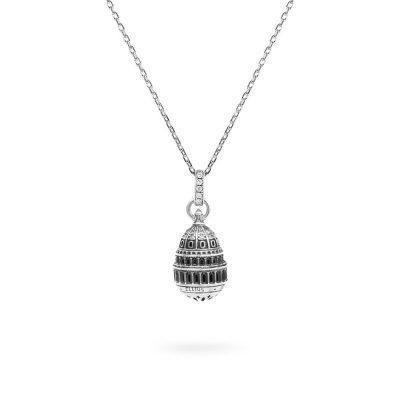 Collana Cupola Minimal Campidoglio Washington gioielli argento Ellius