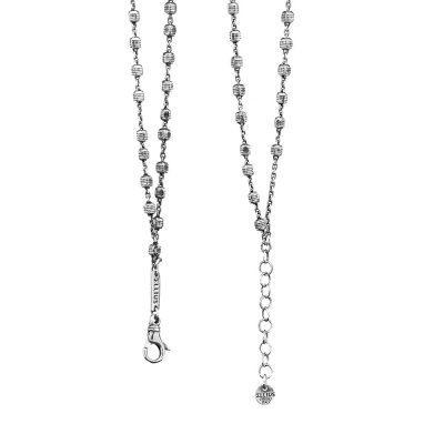 Collana Rosario Natività Stella e Croce doppia pietre bianco Retro gioiello argento Ellius