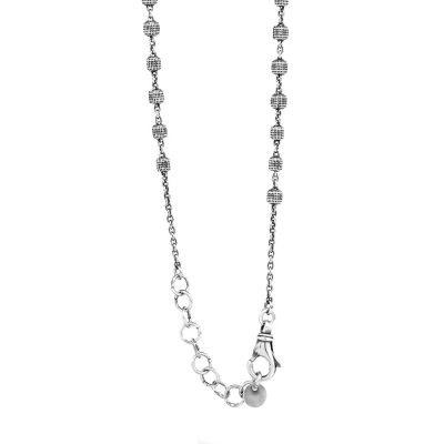 Collana Rosario Natività Stella e Croce pietre bianco Retro gioiello argento Ellius