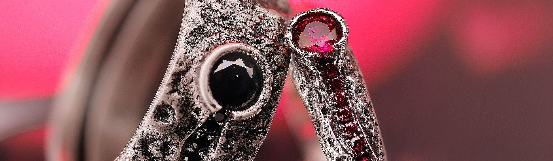 particular ring for man and woman collection volcano ellius silver