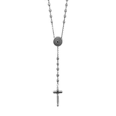 collana rosario scudo uomo argento ellius