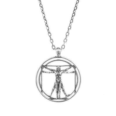 collana uomo vitruviano uomo gioielli argento ellius
