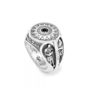 Men's Nativity Ring with Templar Guardians