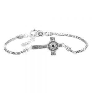 Men's Nativity Star Bracelet with Cross